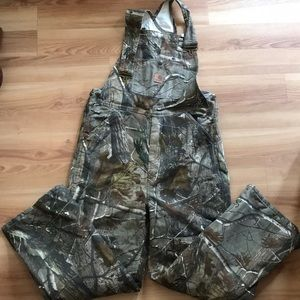 Camouflage carhartt overalls boys size 14 like new